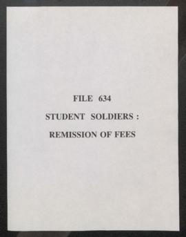 Student Soldiers: Remission of Fees