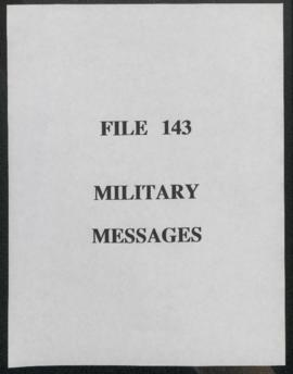 Military Messages