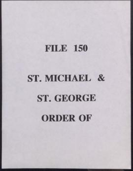 St. Michael and St. George, Order of