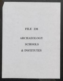 Archaeology Schools and Institutes