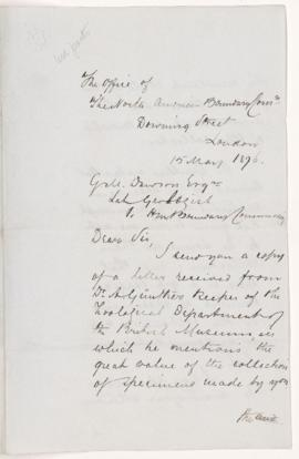 Letter, 15 May 1876
