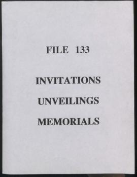 Invitations - Unveilings - Memorials
