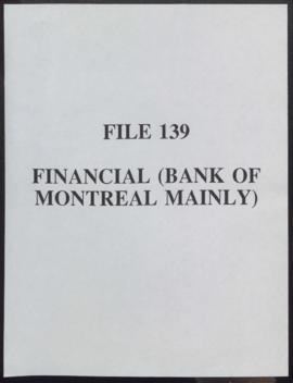Financial (Bank of Montreal Mainly)