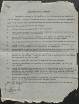 Report of the Special Survey Committee, 1930-31
