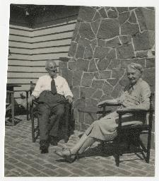 Herbert and Ethel Renouf, taken in Gaspe at Brother Charles