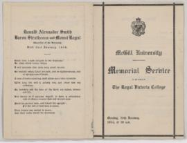 McGill funeral and memorial ephemera