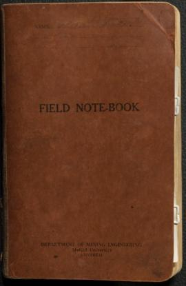 Field notebook, McGill Mining School Survey, May 1936