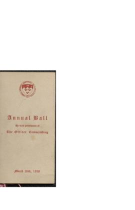 Dance card for the McGill COTC annual ball, 1938