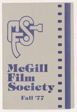 McGill Film Society ephemera