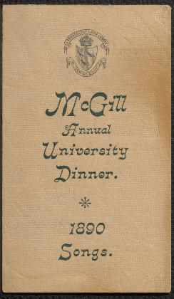 19th century McGill ephemera