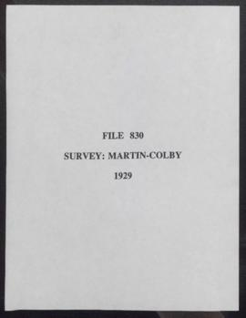 Survey: Martin-Colby