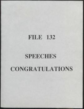 Speeches - Congratulations