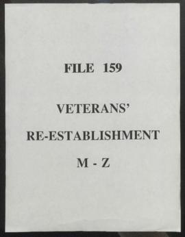 Veterans Re-Establishment: M-Z