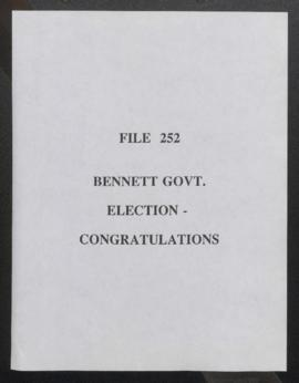 Bennett Government Election - Congratulations