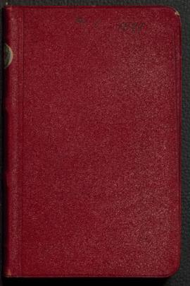 Private diary, I. 1891