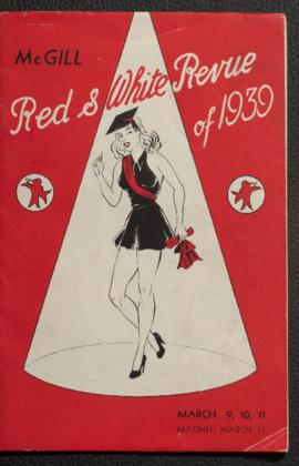 Programme for Red and White Revue, 1939