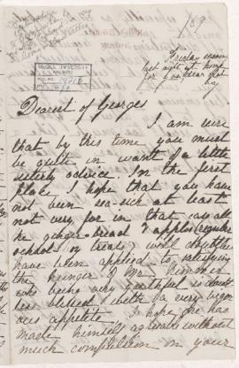 Letter from Anna to George, 1869
