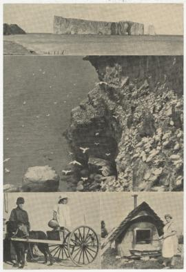 Magazine clippings, scenes from Perce, Quebec