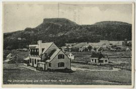 Postcard of the Shearson Home and the Mont Sainte-Anne, Perce, Quebec