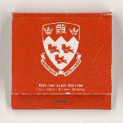 McGill matchbook