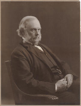 """Lord Lister 1899."" Photo portrait, three-quarter length, seated, to right"