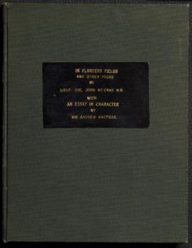 Manuscript of In Flanders Fields and Other Poems