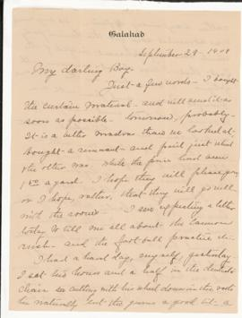 Correspondence from Jean Jefferson Penfield to WGP (arranged as bundled)