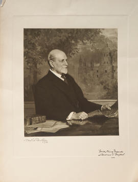 Photograph of painting of Andrew T. Taylor by T. Martine Ronaldson