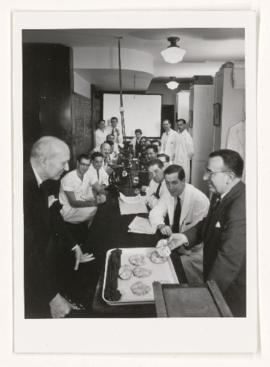 Neuropathology conference pre-May 1953, Karsh photos.
