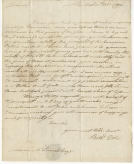 Letter from Richard Dobie to Simon McTavish, 20 October 1792