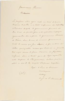 Copy of declaration of the provisionary government of France