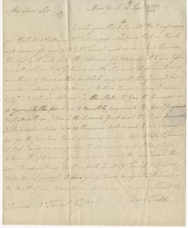 Letter from Isaac Todd to Simon McTavish, 16 January 1799