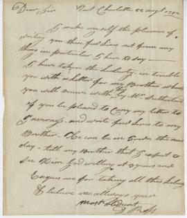 Letter from Donald Ross to Simon McTavish, 22 August 1792