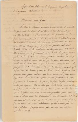 Letters from Napoleon to Alexander