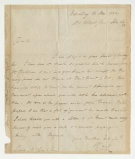 Letter from Sir James Monk to Simon McTavish, 21 March 1792