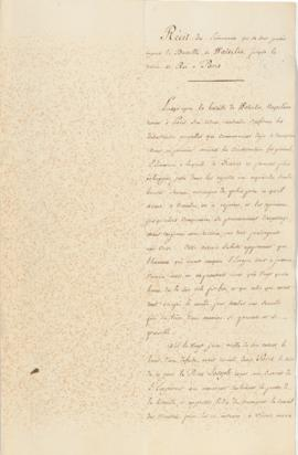 Caulaincourt's unpublished account of the Battle of Waterloo to the restoration of Louis XVIII