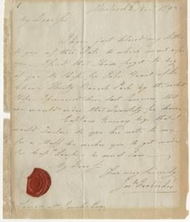 Letter from Joseph Frobisher to Simon McTavish, 18 November 1792