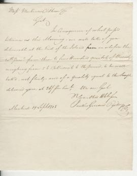 Letter to Mackenzie, Oldham & Co.