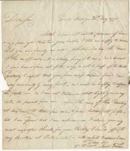 Letter from Simon Fraser to Simon McTavish, 21 July 1796