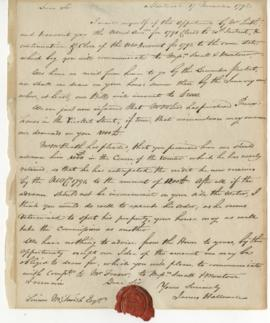Letter from James Hallowell to Simon McTavish, 17 November 1792