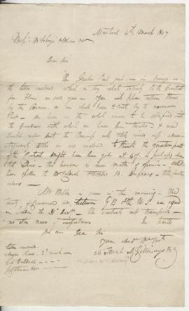 Letters to Mackenzie, Oldham & Co.
