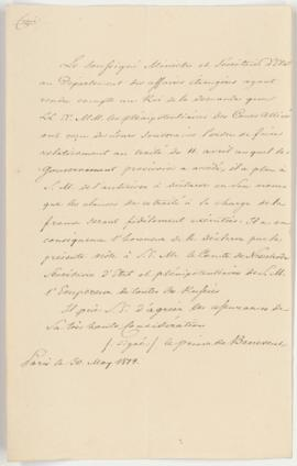 Declaration to honor the Treaty of Fontainebleau