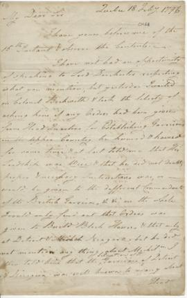 Letter from Joseph Frobisher to Simon McTavish, 18 July 1796