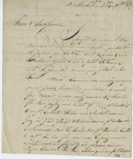 Letter from François Laframboise to William Grant