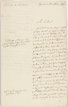 Letter from the Duc de Richelieu