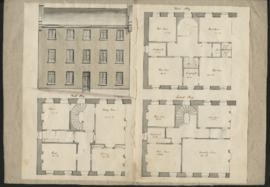 Plan and elevation of house