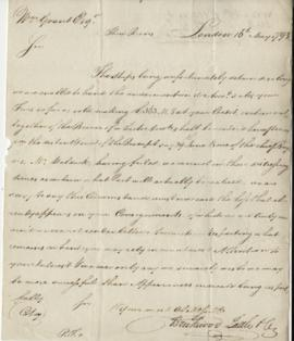 Copy of letter from Brickwood, Pattle, & Co. to William Grant