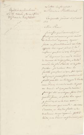 Letter to Metternich from Berthier