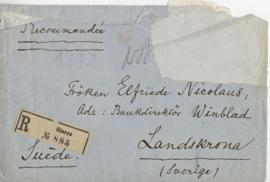Letter to Elfriede Nicolaus
