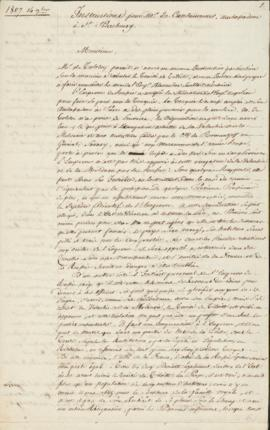 Letter from Champagny (French foreign affairs minister) to Caulaincourt (ambassador to St. Peters...